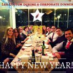 Lex Dictum during a corporate dinner_HAPPY NEW YEAR!